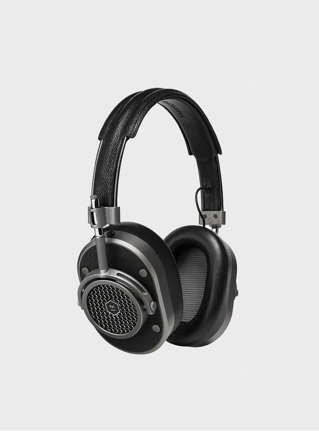 Gunmetal / Black Leather MH40 Headphones