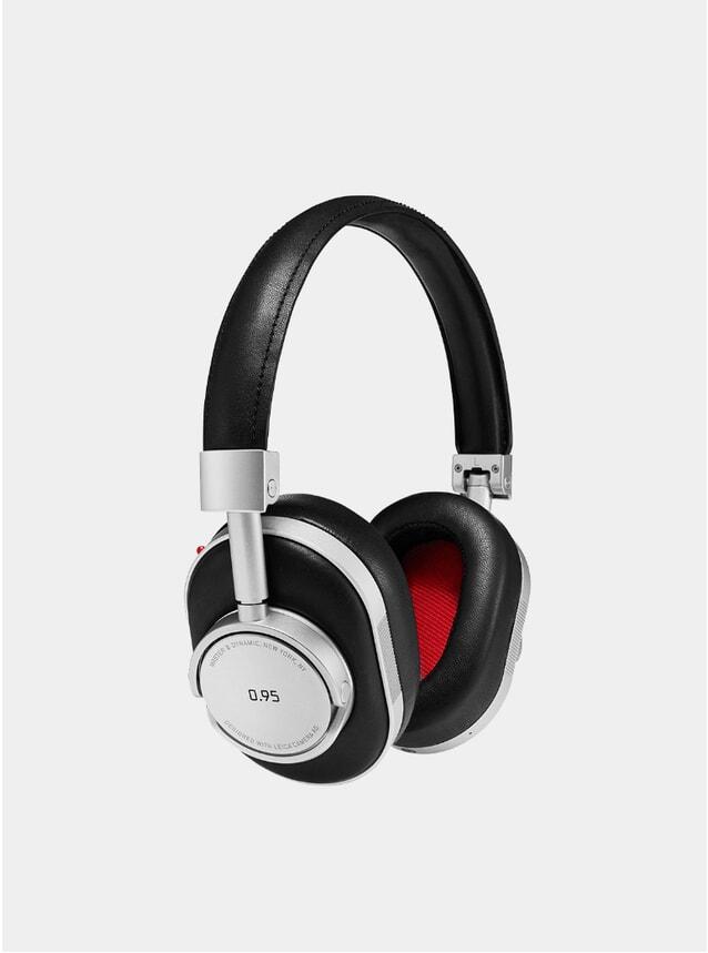 Silver Metal / Black Leather Leica Headphones