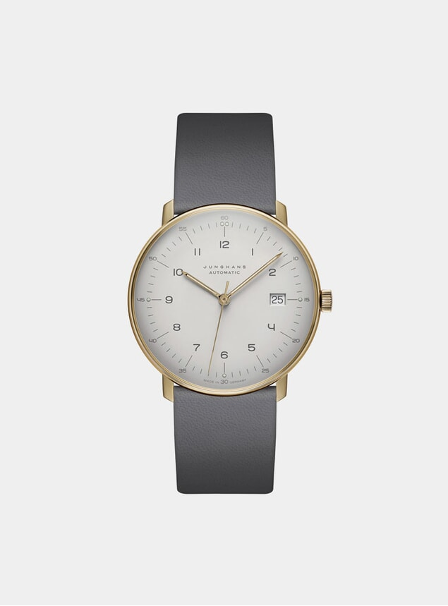Grey / White Max Bill Automatic 027/7806.00 Watch