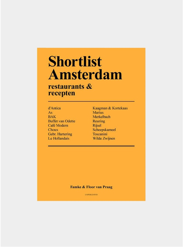 Shortlist Amsterdam Book