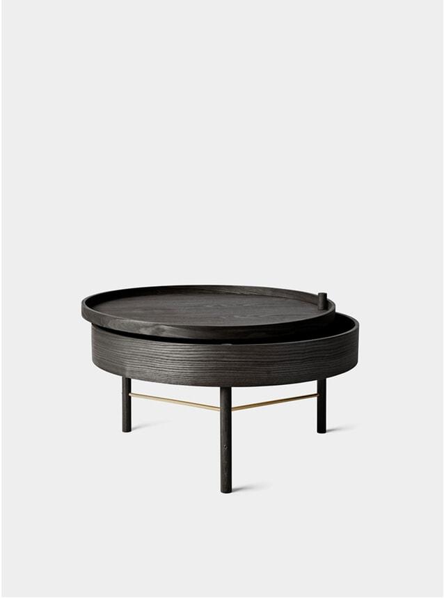 Black Ash / Brass Turning Table