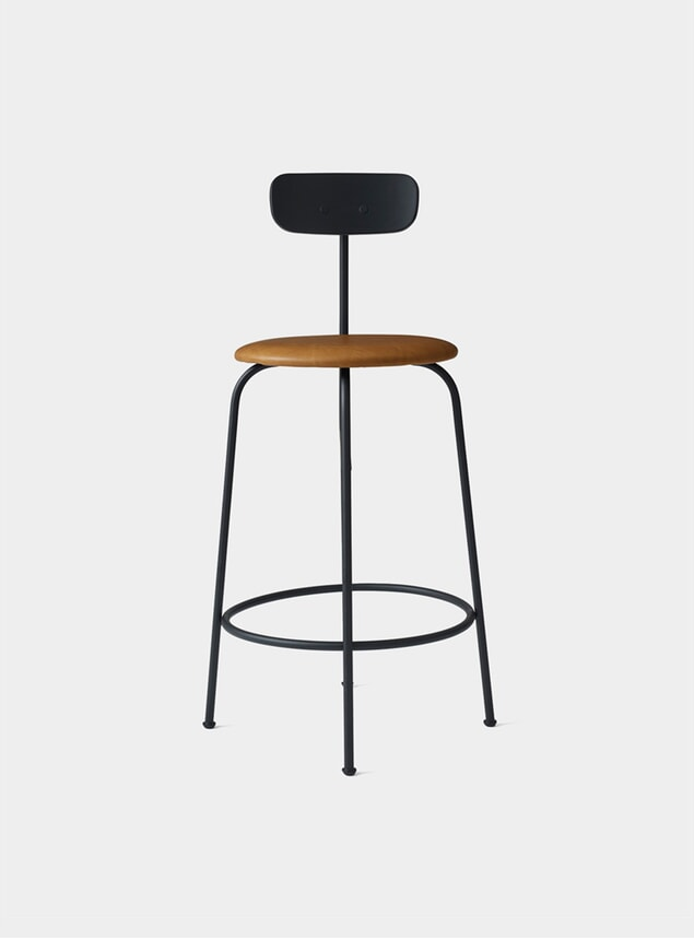 Black / Cognac Counter Chair