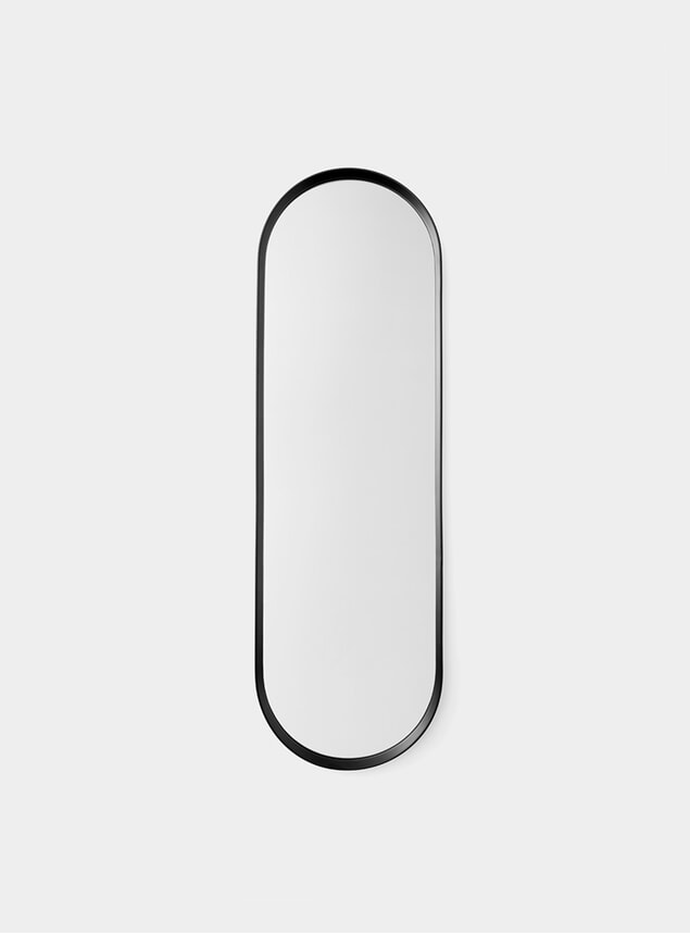 Black Norm Oval Mirror