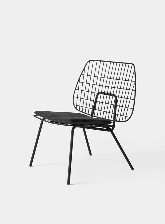 Black WM String Lounge Chair
