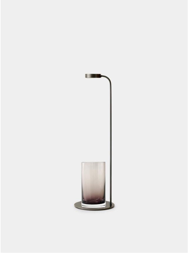 Bronzed Brass / Smoke Stem Vase