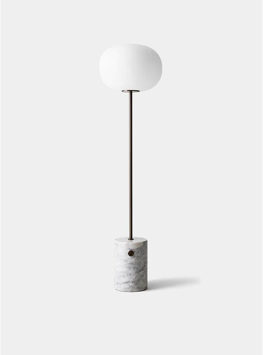 Bronzed Brass / White Marble JWDA Floor Lamp