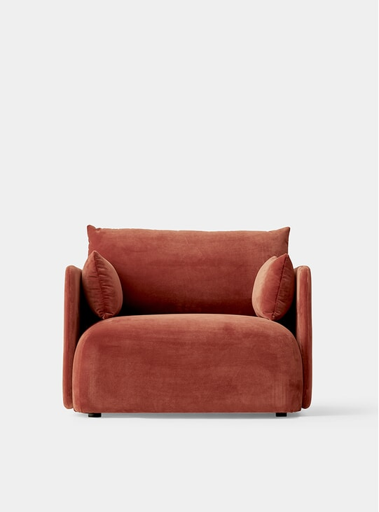 City Velvet Offset 1 Seater