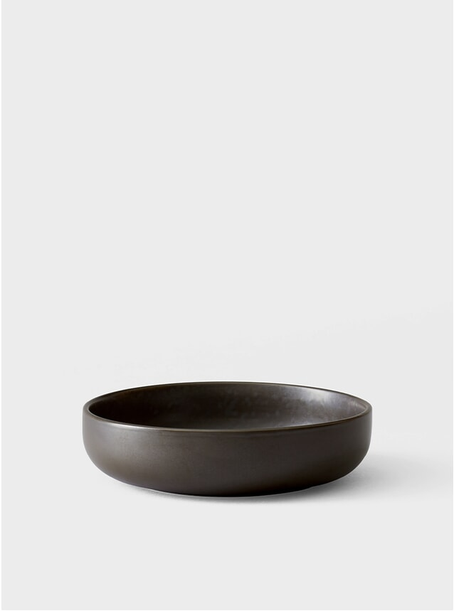 Dark Glazed New Norm Low Bowl Set of 4