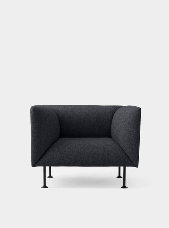 Dark Grey Melange Godot Armchair