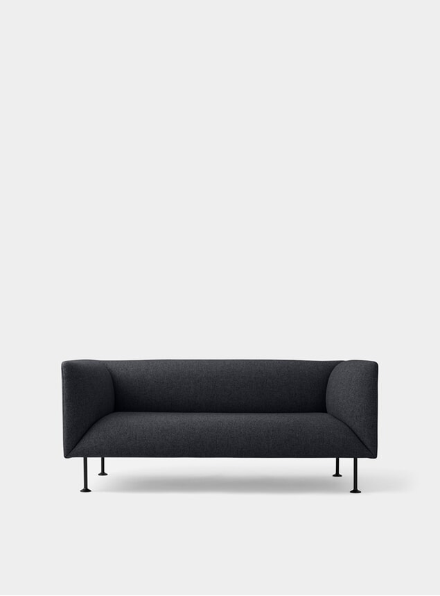 Dark Grey Melange Godot 2 Seater Sofa