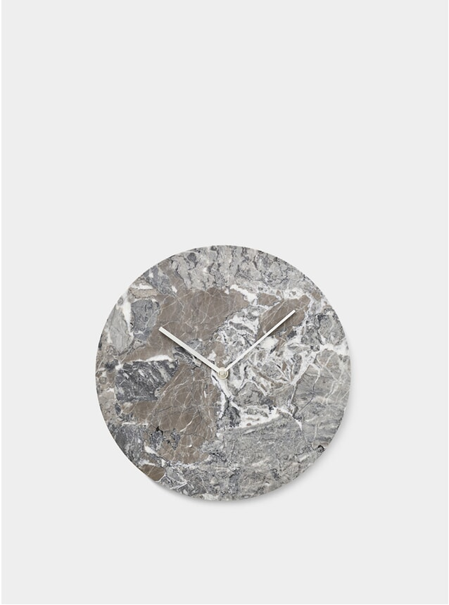 Grey Marble Wall Clock