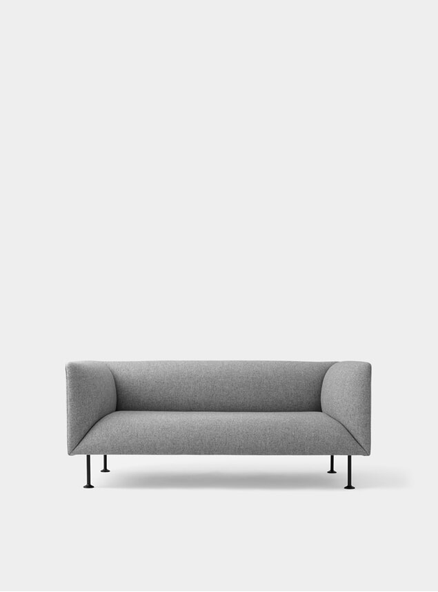 Grey Melange Godot 2 Seater Sofa