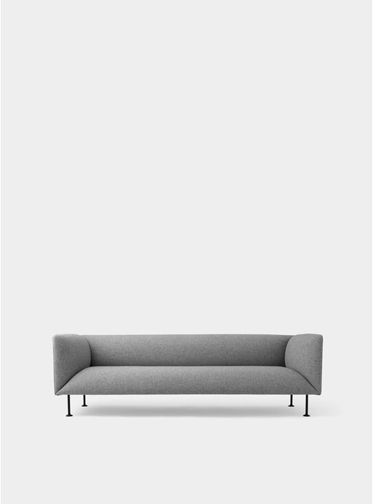 Grey Melange Godot 3 Seater Sofa