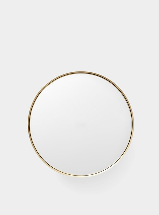 Large Brushed Brass Darkly Mirror