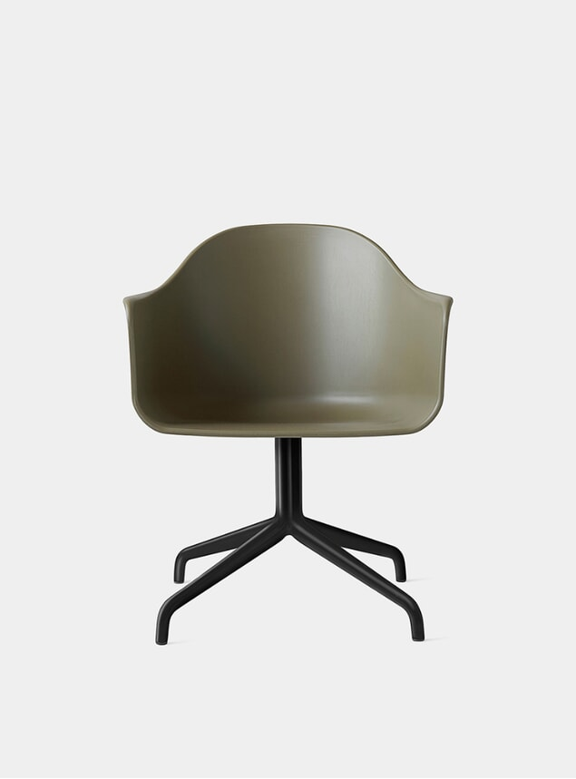 Olive / Black Harbour Swivel Chair