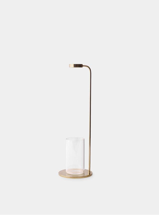 Polished Brass / Clear Stem Vase