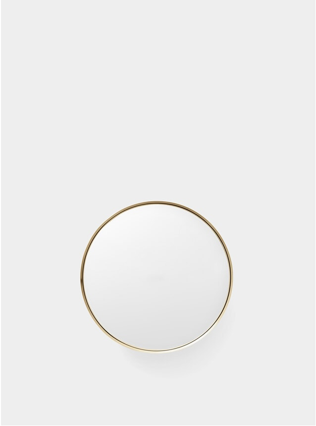 Small Brushed Brass Darkly Mirror
