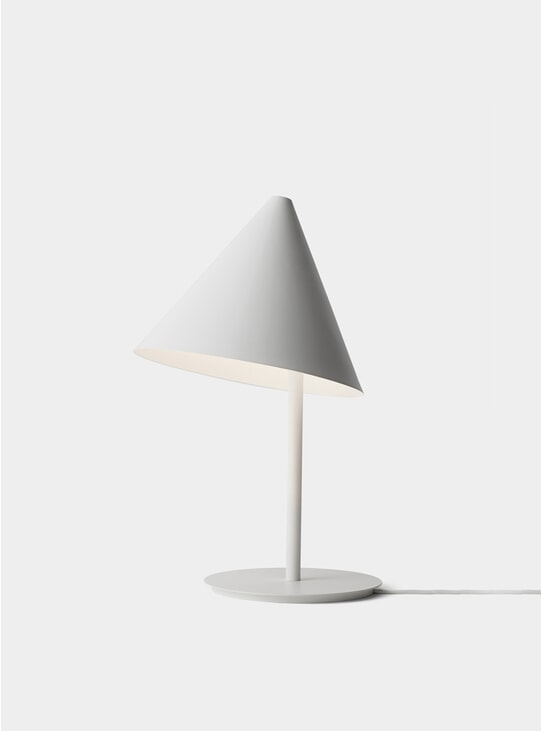 White Conic Table Lamp