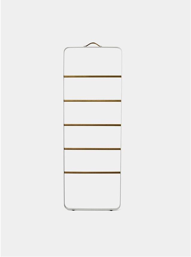 White / Light Ash Towel Ladder
