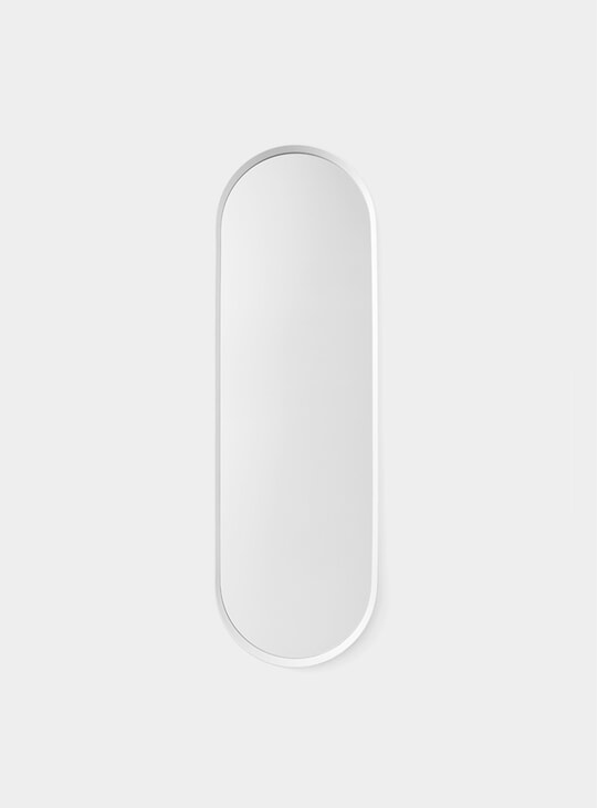 White Norm Oval Mirror