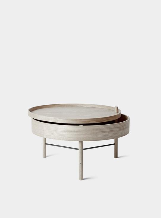 White Oak / Black Chrome Turning Table