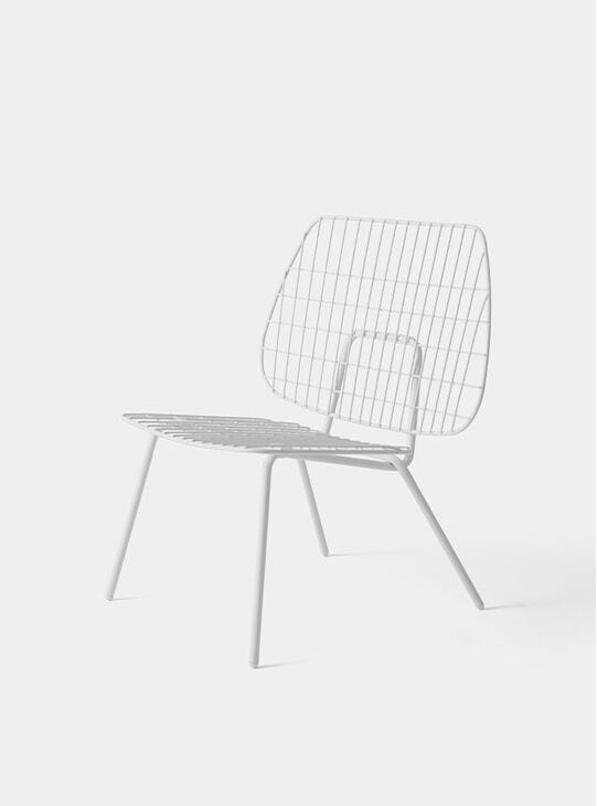 White WM String Lounge Chair
