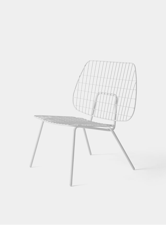 White WM String Lounge Chair