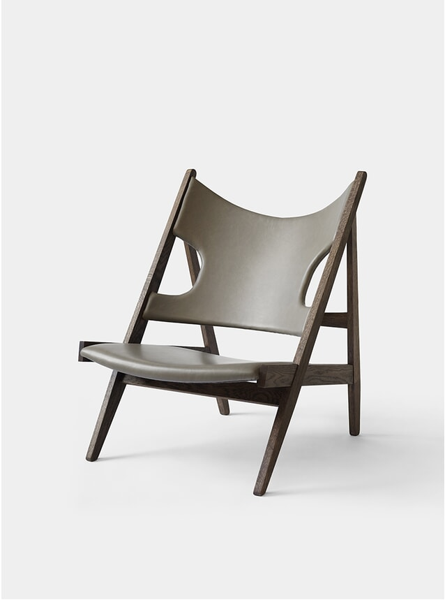 Wood Base Knitting Lounge Chair
