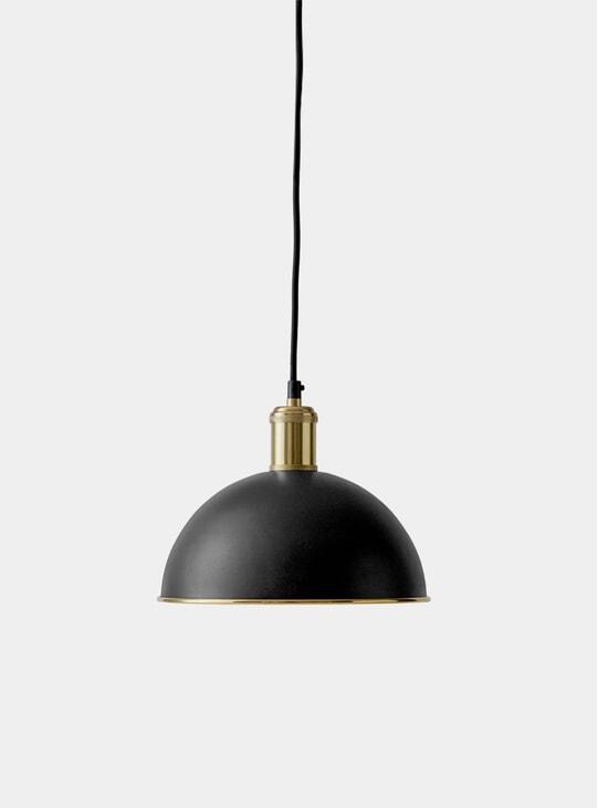 Black / Brass Hubert Pendant Light