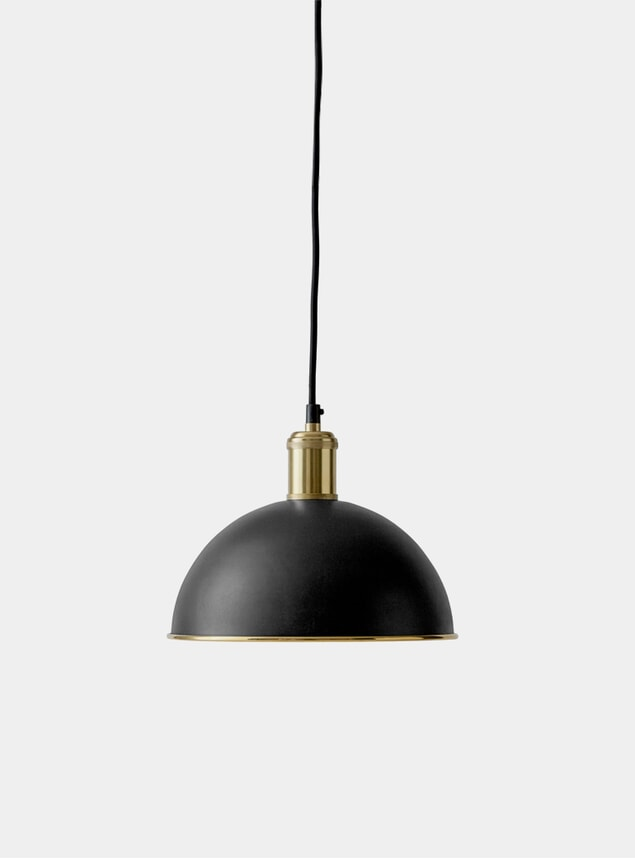 Black / Brass Hubert Pendant Light