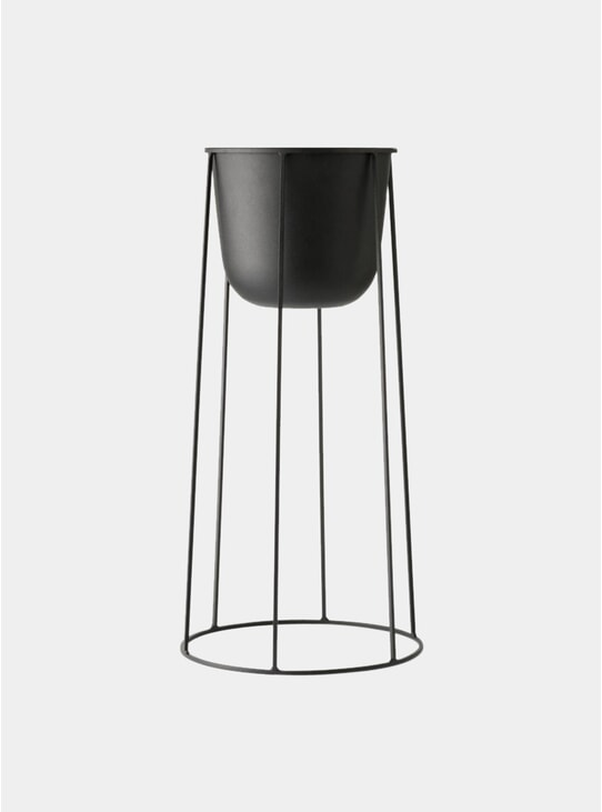 Black Large Wire Stand & Plant Pot