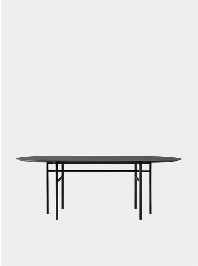 Black Oval Snaregade Dining Table