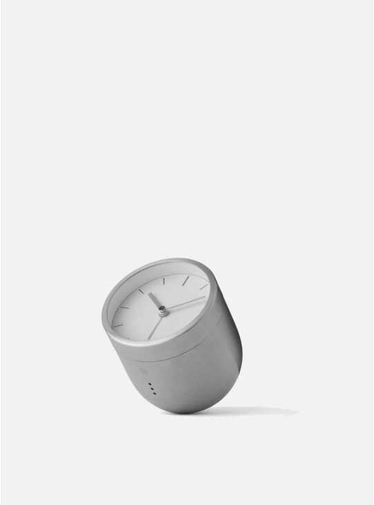 Brushed Stainless Steel Norm Tumbler Alarm Clock