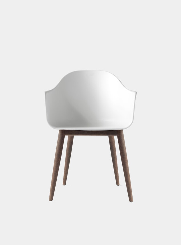 Light Grey / Dark Oak Base Harbour Chair