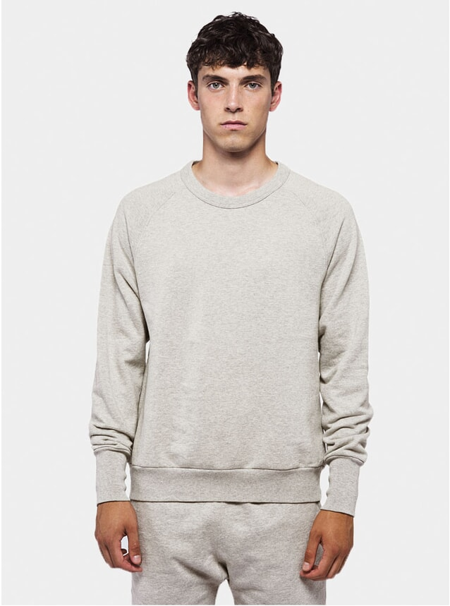 Grey Melange Raglan Jumper