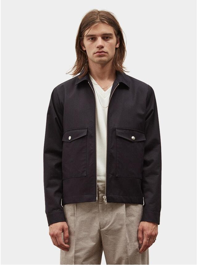 Dark Navy Figures Zip Jacket