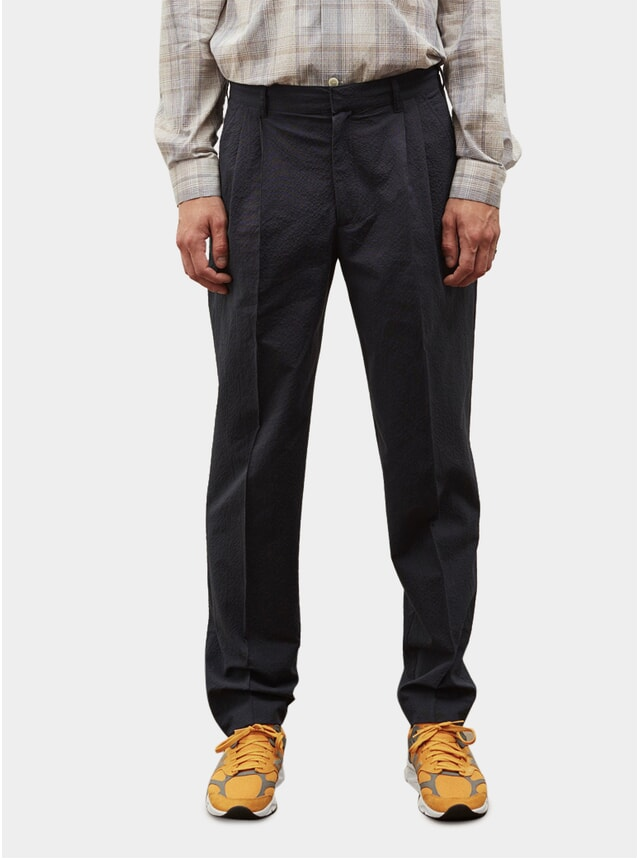 Dark Navy Saevio Trousers