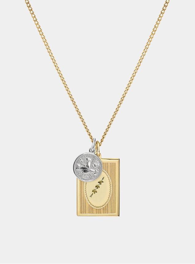 14k Gold / Sterling Silver Bird Grame Necklace