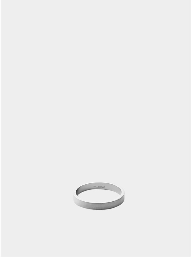 3MM Matte Silver Ring