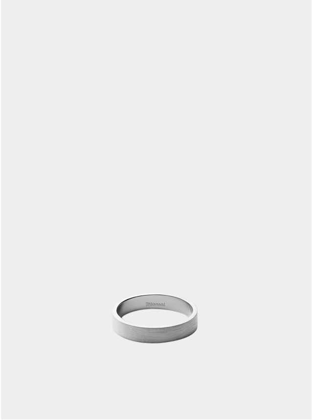 4MM Matte Silver Band Ring