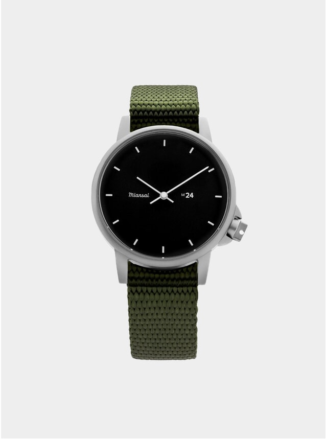 Black / Hunter Nylon M24 Watch