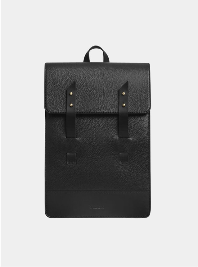 Black Textured Mini Harbour Rucksack