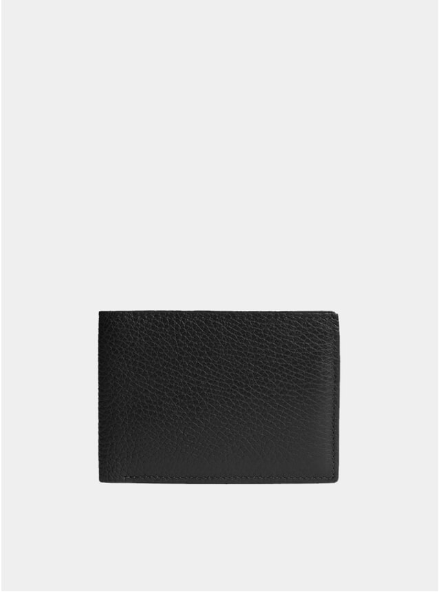 Black Textured Modern Billfold Wallet