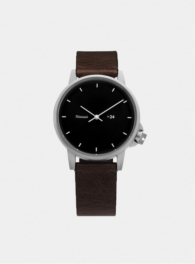 Black / Vintage Chocolate Leather M24 Watch