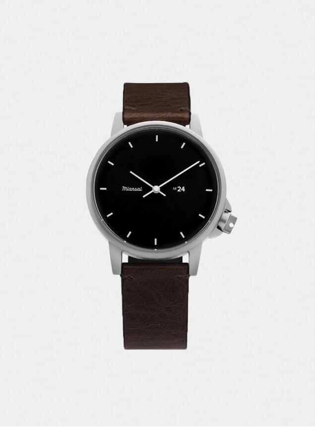 Black / Vintage Chocolate Leather M24 Watch