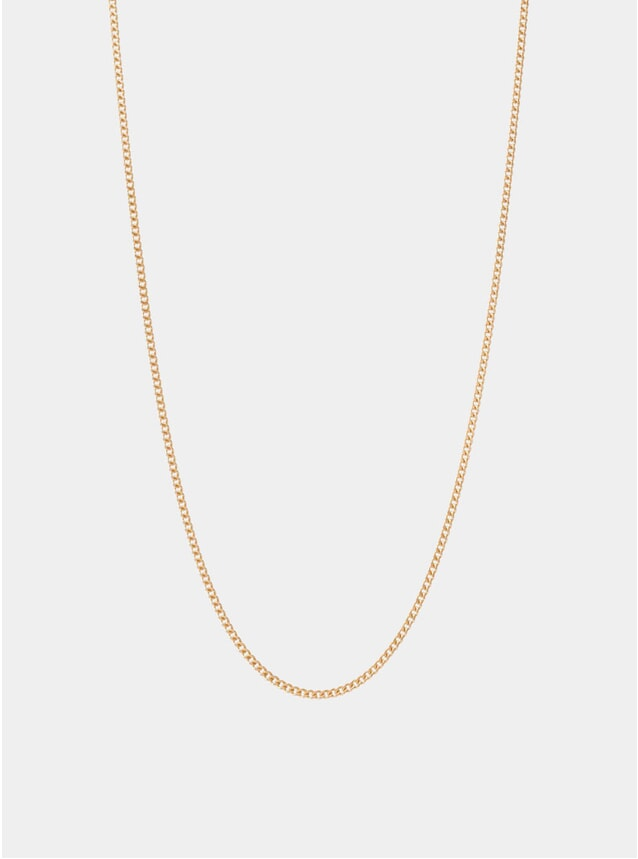 Gold 2mm Chain Necklace