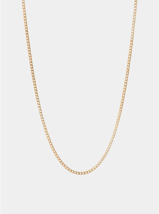 Gold 3mm Chain 14k Gold Necklace