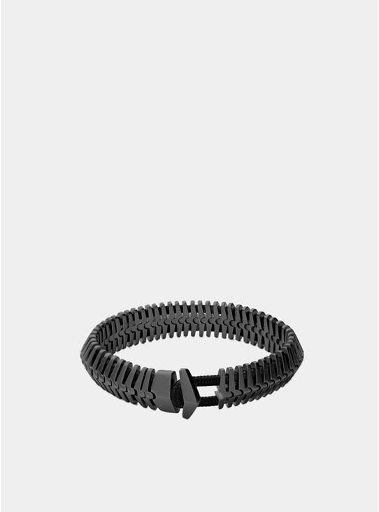 Matte Black Rhodium Klink Bracelet