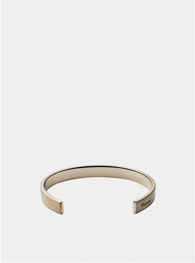 Matte Brass Label Cuff