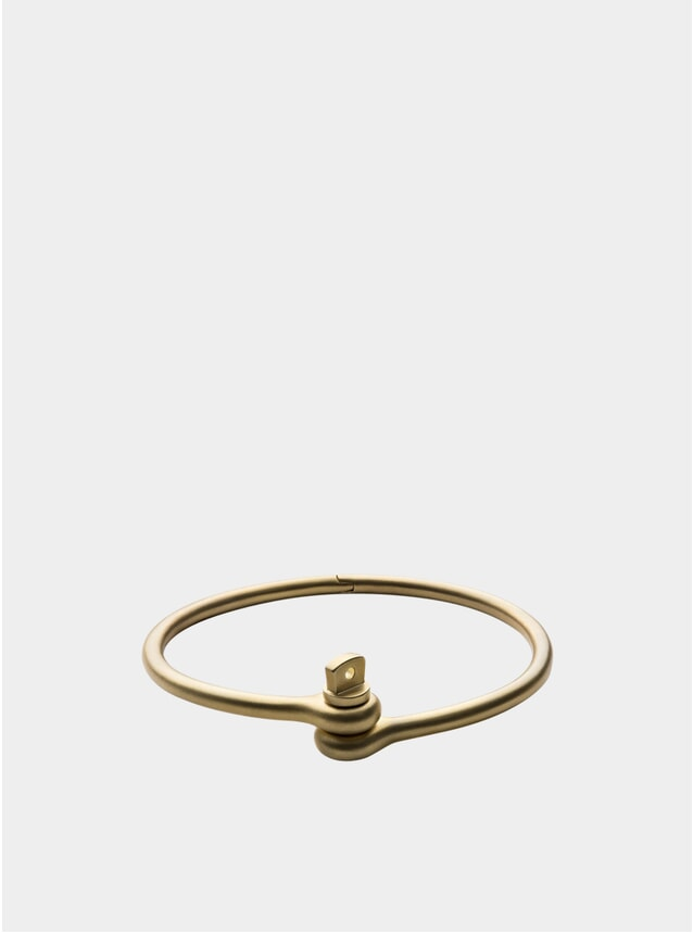 Matte Brass Thin Reeve Cuff